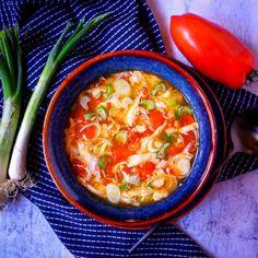 #polevka #vejce #rajcata Thai Red Curry, Ethnic Recipes, Food, Meal, Essen, Hoods, Meals, Eten