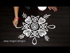 Simple Rangoli Designs Images, Rangoli Designs Diwali, Rangoli Designs With Dots, Kolam Rangoli, Easy Rangoli, Beautiful Rangoli Designs, Rangoli Borders, Rangoli Border Designs, Simple Rangoli With Dots