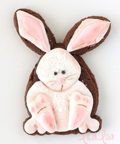 LilaLoa: Decorated Easter Bunny Cookies -- Cookies and Cards