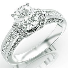 1.49 Carat Cushion Cut / Shape 14K White Gold Contemporary Channel Set Princess And Pave Round Cut Diamond Engagement Ring ( H-I Color , VS2 Clarity ) Chandni Jewels http://www.amazon.com/dp/B00BMF7QKO/ref=cm_sw_r_pi_dp_Pcdrub0NBFQ0H