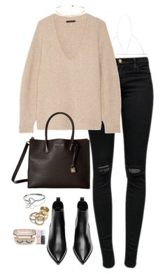 """""""Sin título #403"""" by silviasalo ❤ liked on Polyvore featuring Acne Studios, J Brand, The Row, MICHAEL Michael Kors, Zara and Sephora Collection"""
