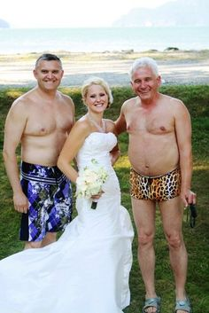 They were just glad they didn't show up in the same bathing suit. (submitted by Daisy)