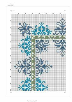 Cross Stitch Borders, Cross Stitch Flowers, Cross Stitch Designs, Cross Stitching, Cross Stitch Embroidery, Hand Embroidery, Cross Stitch Patterns, Palestinian Embroidery, Prayer Rug