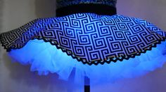 Glowing Strobing Rave Miniskirt Color Changing LED by MDMAtelier