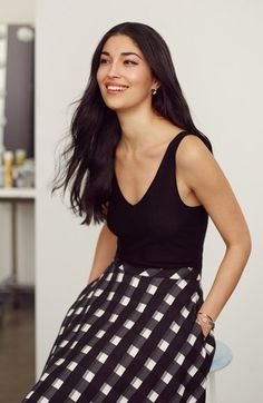 LIKE THIS STYLE. Nordstrom Signature and Caroline Issa Tank & Skirt available at #Nordstrom