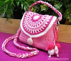 Little Girl Crochet Purse Crochet purse Pink por IaiaHobbyCrochet