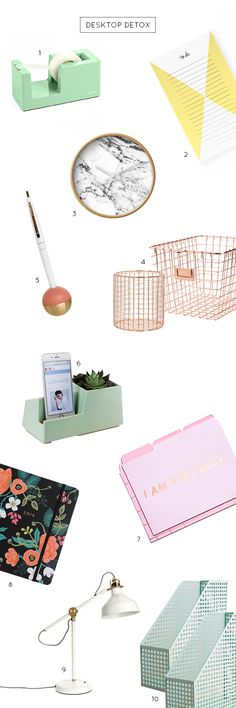 My current favorite ways to stay organized and keep things in my office under control, with these 10 cute desk accessories!