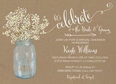 Country Bridal Shower Invitation Bridal Shower Invitation Wedding