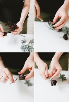 diy // succulent hair pins jojotastic.com Homemade Gifts, Diy Gifts, Flower Hair Accessories, Summer Accessories, Easy Craft Projects, Craft Ideas, Money Cards, Do It Yourself Crafts, Succulents Diy