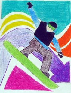 "From exhibit ""Olympic 2010 Athlete in Action"" by (Winter Games) Kids Art Class, Art Lessons For Kids, Art For Kids, Classroom Art Projects, Art Classroom, Olympic Idea, Olympic Games, Third Grade Art, Elementary Art Rooms"