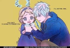 Elsa and Jack Frost would make the perfect couple Jack Y Elsa, Jack Frost And Elsa, Cute Disney, Disney Art, Disney And Dreamworks, Disney Pixar, Deco Disney, Disney Ships, Pinturas Disney