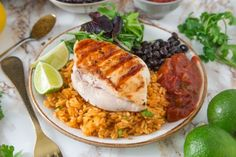 margarita grilled chicken and mexican rice reci Mexican Grilled Chicken, Best Grilled Chicken Recipe, Cilantro Chicken, Grilled Chicken Thighs, Grilled Steak Recipes, Chicken Flavors, Chicken Rice, Chicken Chili, Mexican Rice Recipes
