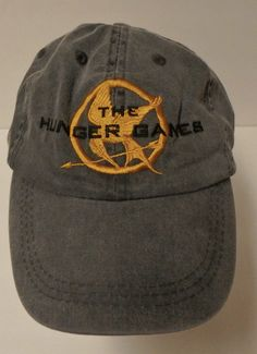 77bebaaf699 The Hunger Games Gray Adjustable Baseball Cap Hat Excellent Katniss   Simplicity… Baseball Caps