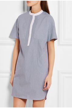 Vince | Striped cotton-poplin dress | NET-A-PORTER.COM