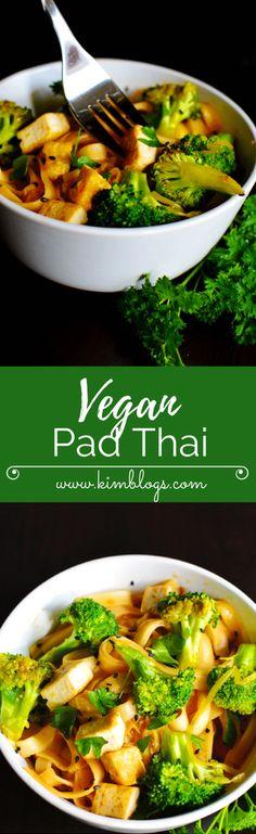 Vegan Meal Prep: Pad thai w/ Tofu - Kim Blogs