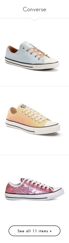 """""""Converse"""" by jaqsancake ❤ liked on Polyvore featuring shoes, sneakers, light blue, canvas lace up sneakers, light blue sneakers, lacing sneakers, grip trainer, laced shoes, lt yellow and converse trainers"""