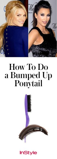 A bumped up pony is an easy way to add a little bombshell to an evening look. Click to see photos of style stars like Jessica Simpson and Kim Kardashian rock a high ponytail with major sophistication.