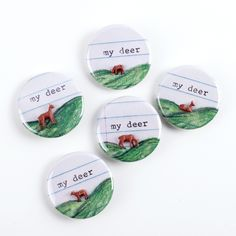 My Deer Buttons - Great gift idea for only $6! Available at miniaturesforamodernworld.com