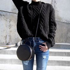 /c/.phraph #ootd w/ the chunky knit sweater + high waisted destroyed jeans! http://www.2020ave.com/products/high-waisted-destroyed-jeans?utm_campaign=151213_highwaisteddestroyedjeans&utm_medium=referral&utm_source=soldsie