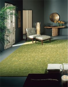 11 Ways to Decorate with Green Rugs and Pantone 2017 Color Greenery