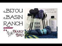 FREE YARN GIVEAWAY featuring Bijou Basin Ranch yarn & Allure Fiber Wash on the Marly Bird YouTube channel. Ends 8/3/15!