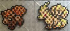 #037-#038 Vulpix and Ninetails - Pokemon perler beads by TehMorrison