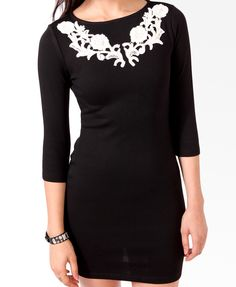 Embroidered Applique Dress