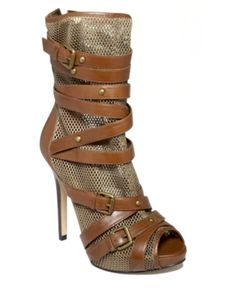 Guess Shoes, Blarney Mesh Ankle Boots Women's Shoes - Guess