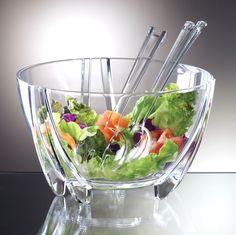 Prodyne SB3C Illusions Salad Bowl Servers 6Qt Shatterproof