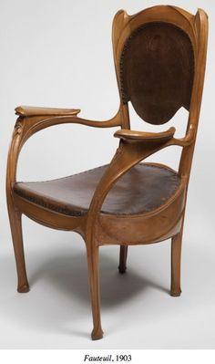 1903 Hector Guimard Art Nouveau Chair