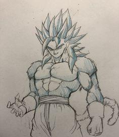Embedded Goku Drawing, Ball Drawing, Dragon Ball Z, Dbz Drawings, Gogeta And Vegito, Epic Characters, Graffiti Painting, Anime Sketch, Pokemon