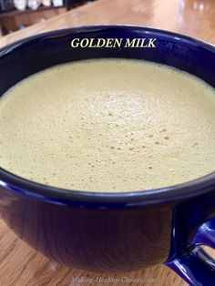 Golden Milk made with Turmeric (non-dairy) - full recipe at http://www.making-healthy-choices.com/turmeric-golden-milk.html
