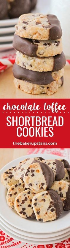 These crisp and buttery chocolate toffee shortbread cookies are so simple to make, and so delicious!   Posted By: DebbieNet.com