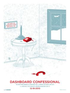 Dashboard Confessional by Adam Hanson Omg Posters, Movie Posters, Dashboard Confessional, Screen Printing, Romance, Graphic Design, Creative, Ears, Number