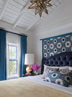 Discover Some of Unique Interior Design Projects by Martyn Lawrence Bullard! Bedroom Wall, Bedroom Furniture, Bedroom Decor, Bedroom Ideas, Tapestry Bedroom, Blue Bedroom, Bedroom Inspo, Dream Bedroom, Furniture Projects