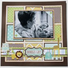 Scrapbook Layout I like the use of the paper in the background