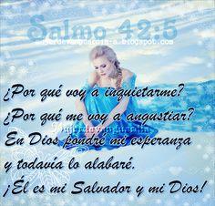 Salmo 42   Así como un venado sediento desea el agua de un arroyo, así también yo, Dios mío, busco estar cerca de ti.  Tú eres el ...