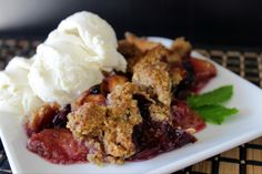 Today, Katie of Girl Meets Nourishment shares her delightful recipe for Blueberry & Peach Cobbler, made with coconut sugar, sprouted flour, & crispy almonds