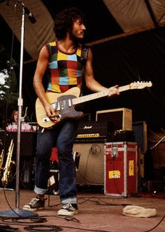 Bruce Springsteen performing in Massachusetts, 1975, by Jeff Albertson.