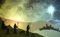 Christmas worship background - Shepherds (Free Background)