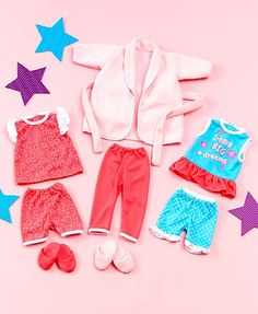 "18"" Doll Set of 3 Sleepwear Outfits 893046-3DOI-SLP"