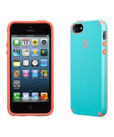 Another great find on #zulily! Blue & Salmon Pink CandyShell Case for iPhone 5/5s by Speck #zulilyfinds