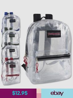 Backpack Clear Transparent Bag School Security Plastic Travel See Book  Through 18dfd2dfa0800