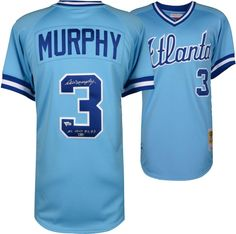 e363fe5d4f7 Dale Murphy Atlanta Braves Fanatics Authentic Autographed Mitchell and Ness  1982 Powder Blue Authentic Jersey with NL MVP Inscription
