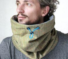 Wool tube scarf, chunky scarf mens, extra warm scarf men, Snock® high quality…