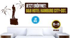 Jetzt eröffnet: B&B Hotel #Hamburg City-Ost - 86. B&B #Hotel in Deutschland