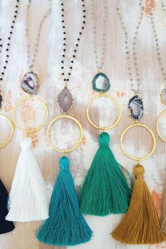 What would your jewelry box be without a tassel necklace?