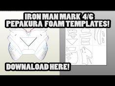 DOWNLOAD - IRON MAN Mark 4/6 Pepakura Foam Template Files Resources, Tools, and Materials for your Pepakura at www.PepakuraPros.com.