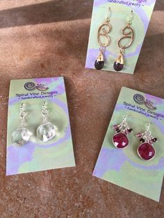New Sterling Silver earrings for sale at Northwood Gallery, Midland, Michigan