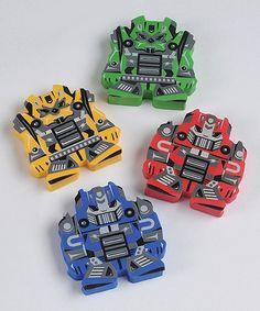 Look at this #zulilyfind! Battle Robot Eraser - Set of 12 #zulilyfinds